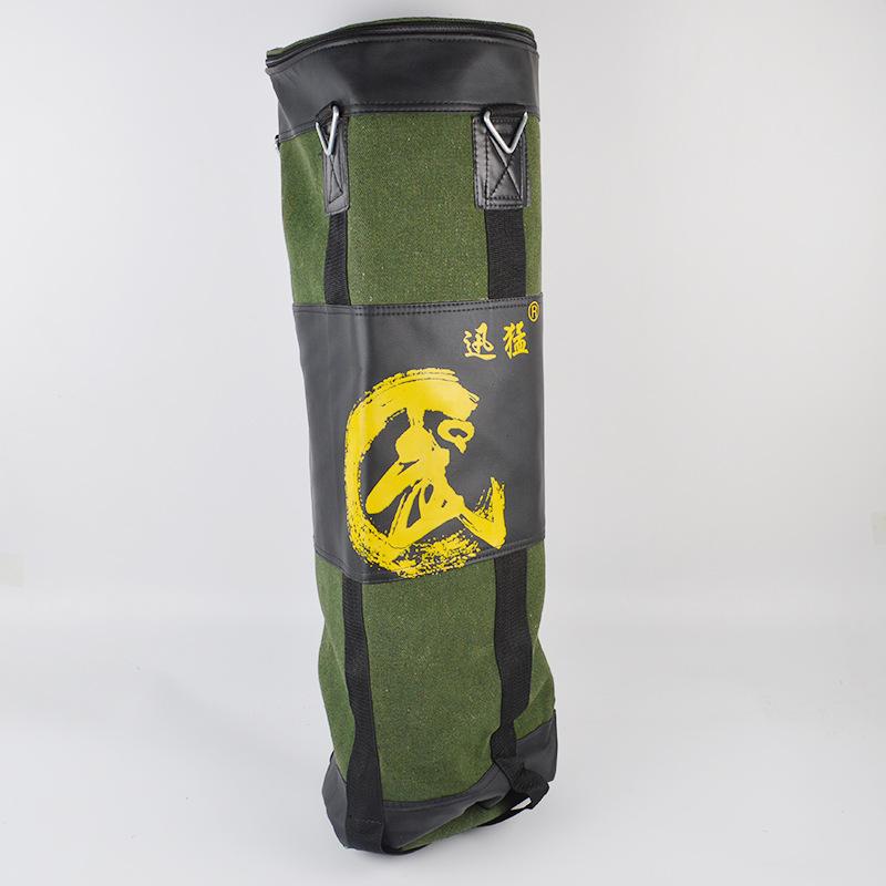 Green Hollow 80/100/120 cm Training Fitness Boxing Punching Bag Hook Hanging MMA Sandbag Kick Fight Muay Thai saco de pancada(China)