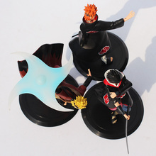 18cm Naruto + Pain + Sasuke PVC Action Figure 3Pcs Set