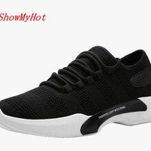 Showmyhot высокое качество Для мужчин Tenis Sapato masculino спорт Кружево на шнуровке Повседневная обувь Воздухопроницаемая обувь с сеткой для мужчин
