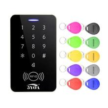 5YOA עמיד למים מתכת Rfid בקרת גישה לוח מקשים עם 1000 משתמשים + 10 מפתח Fobs RFID דלת בקרת גישה מערכת