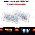 2 х LED Номерной знак Лампы ОВС Безошибочную 18 Для BMW E53 X5 До Подтяжку Лица