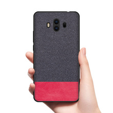 CoolDeal for Huawei Mate 9 case Mate9 Pro back cover soft silicone edge shockproof fabric capa