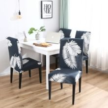 Spandex Chair Cover Stretch Elastic Dining Seat for Banquet Wedding Restaurant Hotel Anti-dirty