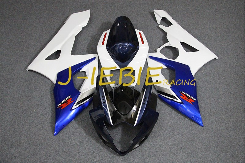 Black white blue Injection Fairing Body Work Frame Kit for SUZUKI GSXR 1000 GSXR1000 K5 2005 2006Black white blue Injection Fairing Body Work Frame Kit for SUZUKI GSXR 1000 GSXR1000 K5 2005 2006