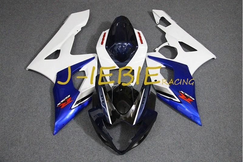 Black white blue Injection Fairing Body Work Frame Kit for SUZUKI GSXR 1000 GSXR1000 K5 2005 2006
