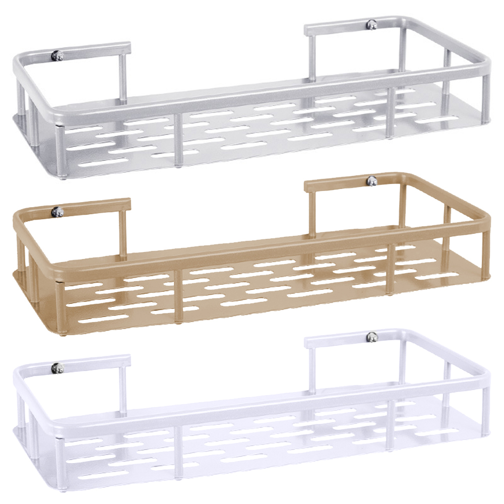 Punch-free Bathroom Shelf Plastic Toilet Bathroom Vanity Wall Hanging Bathroom Storage Rack Basket No Trace Bathroom Accessories