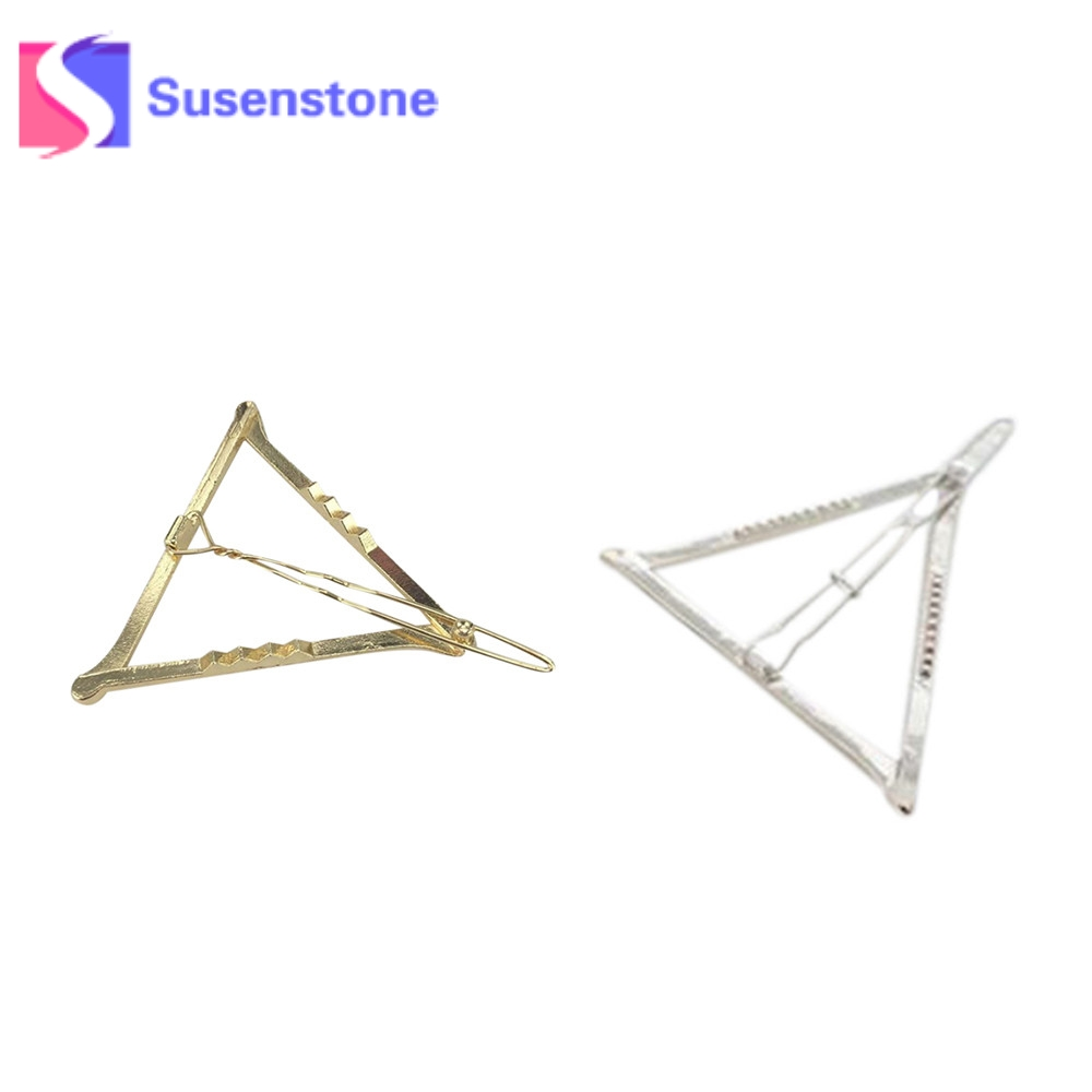 2pcs Minimalist Dainty Gold Silver Hollow Geometric Metal Barrette Hairpin Hair Clip Hair accessories Headband Hair Jewelry Gift