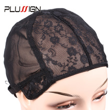 Wig-Caps Adjustable Mesh Black-Color Small-Size Large for Making-Wigs 1pcs/Lot Medium