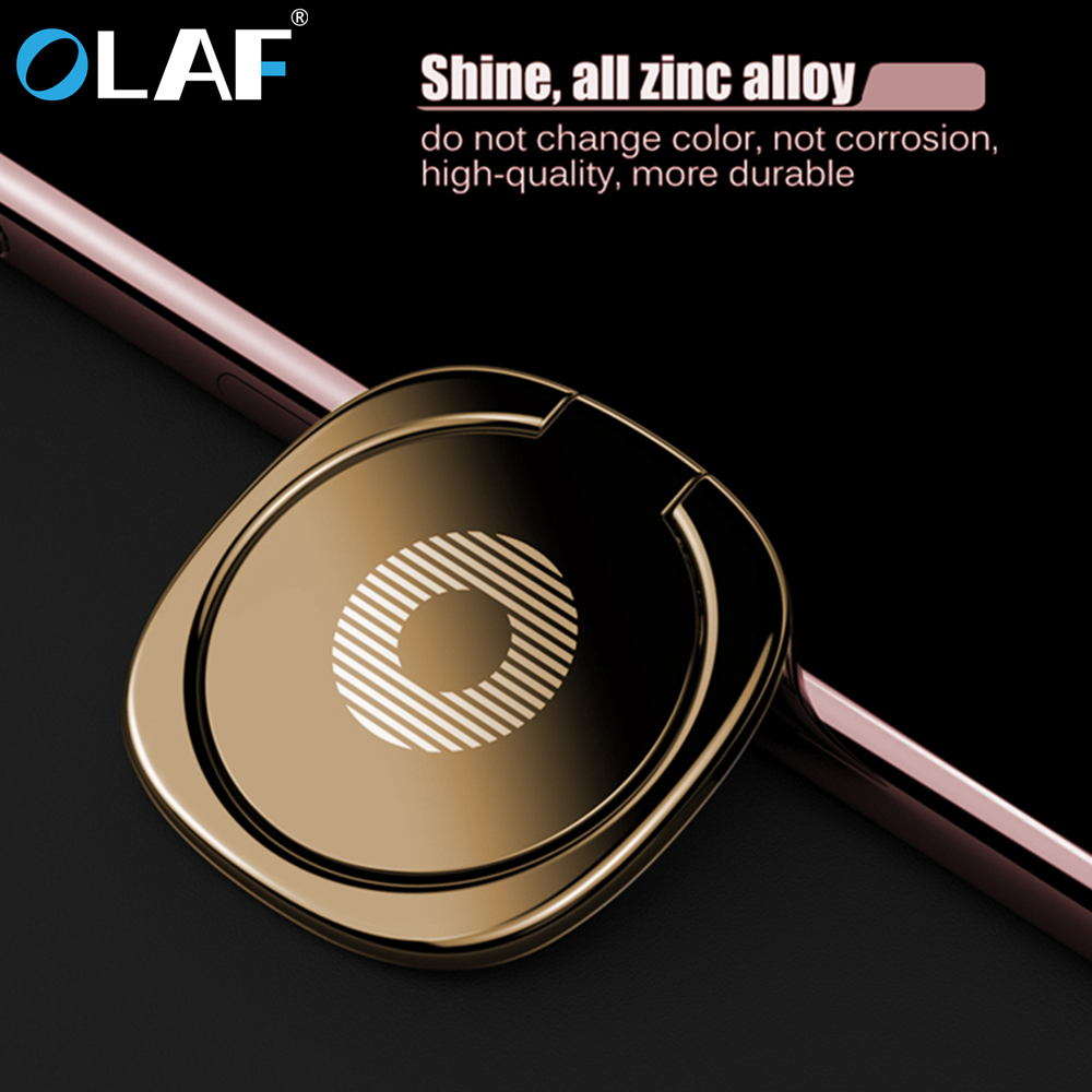 OLAF Luxury 360 Degree Metal Finger Ring Holder Smartphone Mobile Phone Finger Stand Holder For IPhone 7 8 Plus X Samsung Tablet