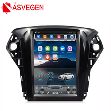 Asvegen Car DVD Player For Ford Mondeo 2011-2013 10.4 1 Din Android Quad Core Ram 2G GPS Navigation Stereo Headunit Multimedia