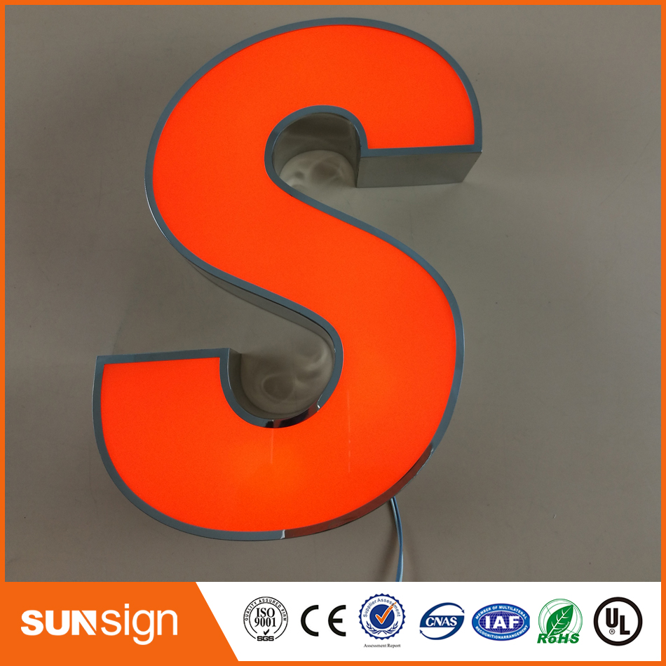 Frontlit Stainless Steel Channel Letter Signage