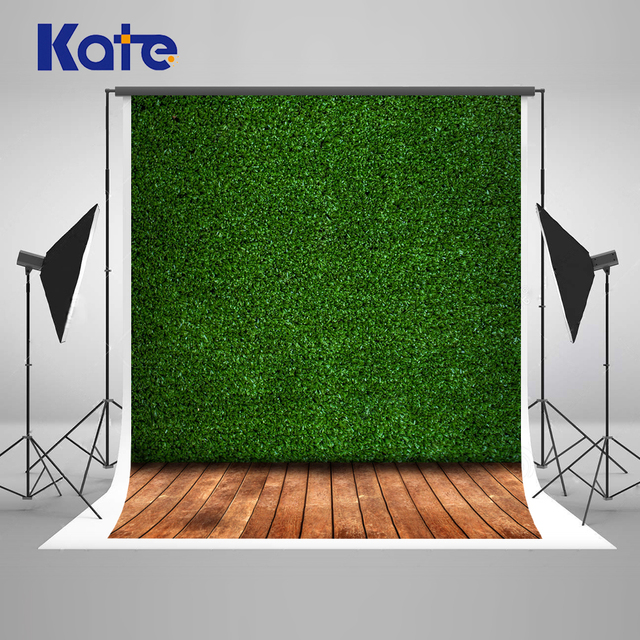 kate 10ft green grass wall backgrounds for photo studio wooden