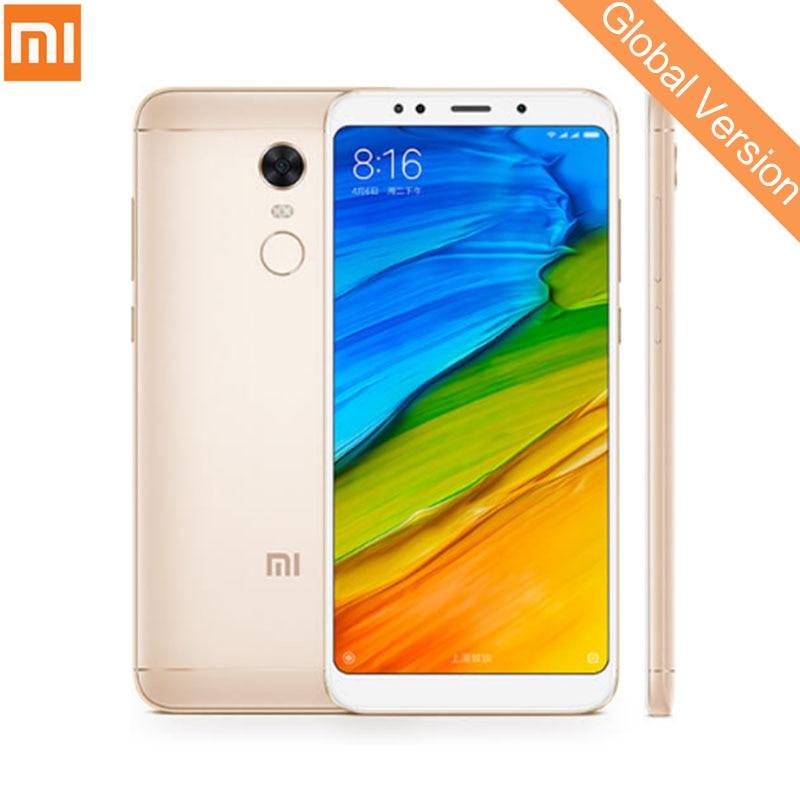 Mondial Version Xiaomi Redmi 5 Plus 3 gb 32 gb Mobile Téléphone Snapdragon 625 Octa base 5.99 Plein Écran 1080 p 4000 mah D'empreintes Digitales CE