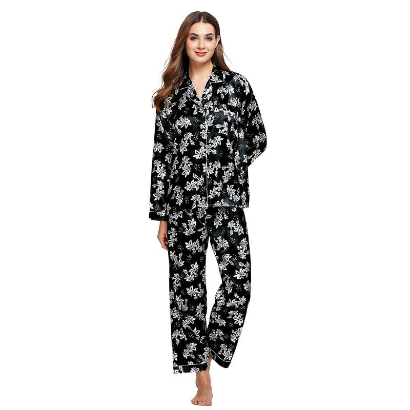 Tony & Candice Dames Zijden Pyjama 2-delige Set Satijn Zijden Pijama - Ondergoed - Foto 4