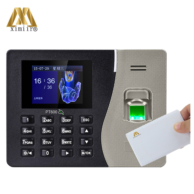 Cheapest Fingerprint Time Attendance PT600 Fingerprint Recognition Time And Attendance With IC Card Reader With Free Software