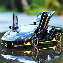 1/32 Centenario LP770-4 Alloy Sport Car Model Diecast Vehicle Toys Hot Racing With Wheels & Lifting Tail Wing Boys Toy