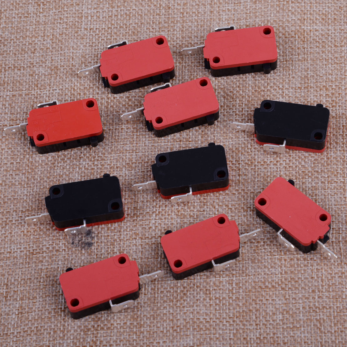 LETAOSK New 10pcs Black & Red & Silver  Microwave Oven Door Switch Fit For LG GE Starion SZM-V16-FD-63 SZM-V16-FA-63