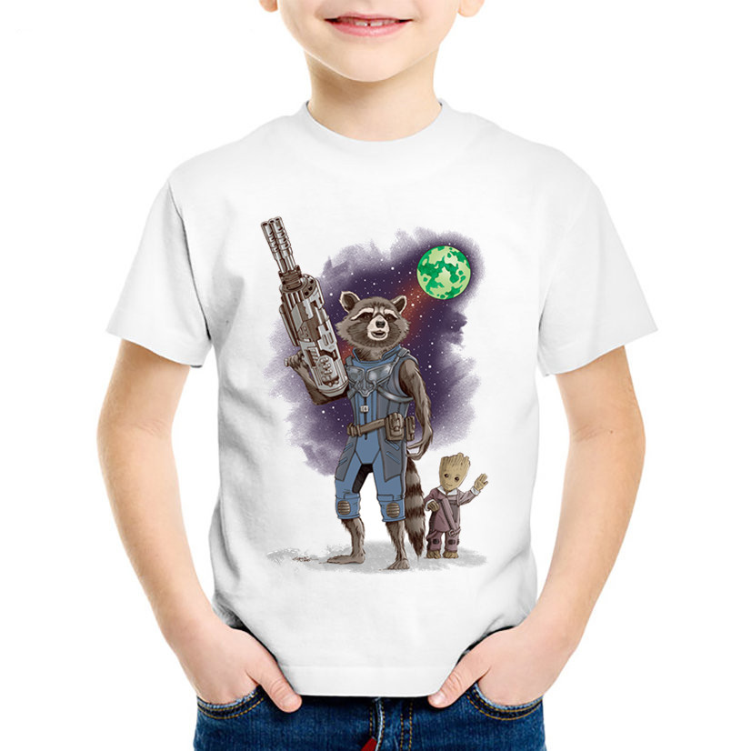 Children Print Guardians of the Galaxy 2 T-shirts Kids Warrior Protection Baby Clothes Boys/Girls Casual Tops Baby Tees,HKP2213