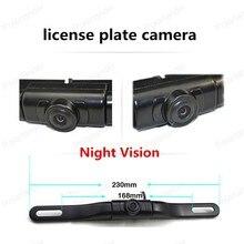 hot sell 170 degree angle car license plate camera with IR led lights car Rear View Camera Night Vision