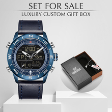 Mens Watches Military NAVIFORCE Clock Quartz Waterproof Top-Brand Fashion For-Sale Sport