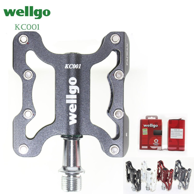 Wellgo original authentic with security code mountain bike aluminum alloy bearing pedal bicycle Accessories KC001 270g|Bicycle Pedal| |  - title=