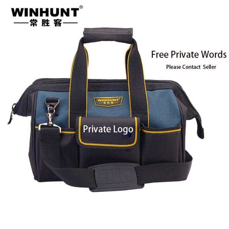 WINHUNT Free Private Print Words Tool Bag Organizer Upgraded version Oxford Cloth Tools Bag Waterproof Tool Bag Electrician