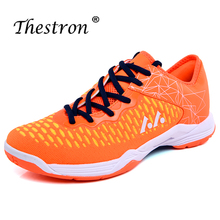 лучшая цена Men Women Badminton Shoes Anti Slip Professional Tennis Sneakers Men 2019 Indoor Table Shoes Breathable Indoor Court Shoes