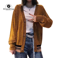 Sweater Cardigans Woman Knitting Outwear Female Top 2018 Autumn Winter V Neck Long Sleeve Sweaters Cardigans Ladies