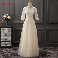 TaooZor Vestido De Festa Scoop Lace Neck Cap Sleeve Vintage Lace Appliques Bridesmaid Dresses Women Formal Party Gowns Plus Size