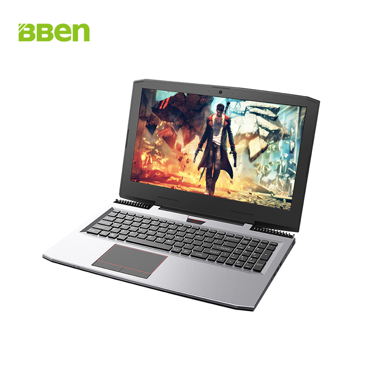 BBEN Laptop Windows 10 Intel Kabylake i7 7700HQ Nvidia GeForce GTX1060 WiFi BT4.0 <font><b>RGB</b></font> Backlit Keyboard 15.6'' IPS Game Computer image