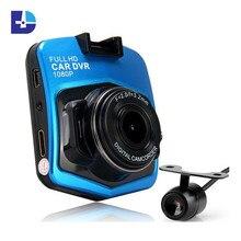Car dvr GT300 Dual lens Car Camera 1080P DVR Video Recorder With Rear View Camera Night Vision Camcorder Car Electronic Dash Cam