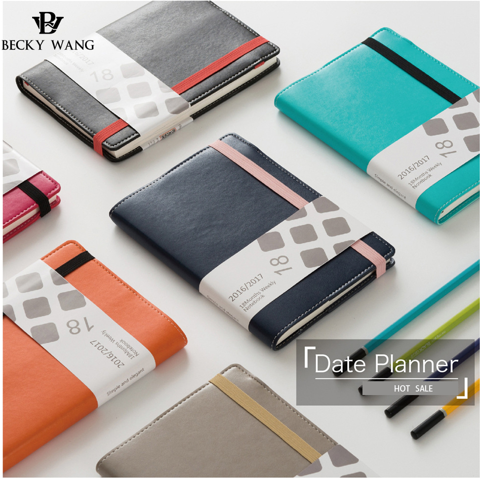 2017 The Plan Schedule N Efficiency of Manual Notebook Custom Stationery For Office Students Diary Book Notepad Hand Accounting 2017 a5 week schedule the plan diary book notebook notebook korea creative stationery diary hand account