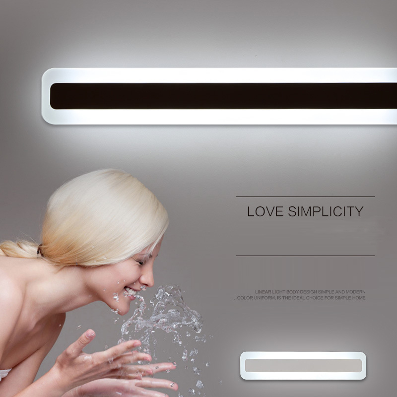 High Quality Creative Acrylic Modern LED Wall Lamp Mirror Front Wall Mounted Bathroom Light Sink Mirror leds Waterproof Anti-Fog luxury modern white acrylic 12w led bathroom wall lamp mirror front fashion wall light showroom washroom wall lamp