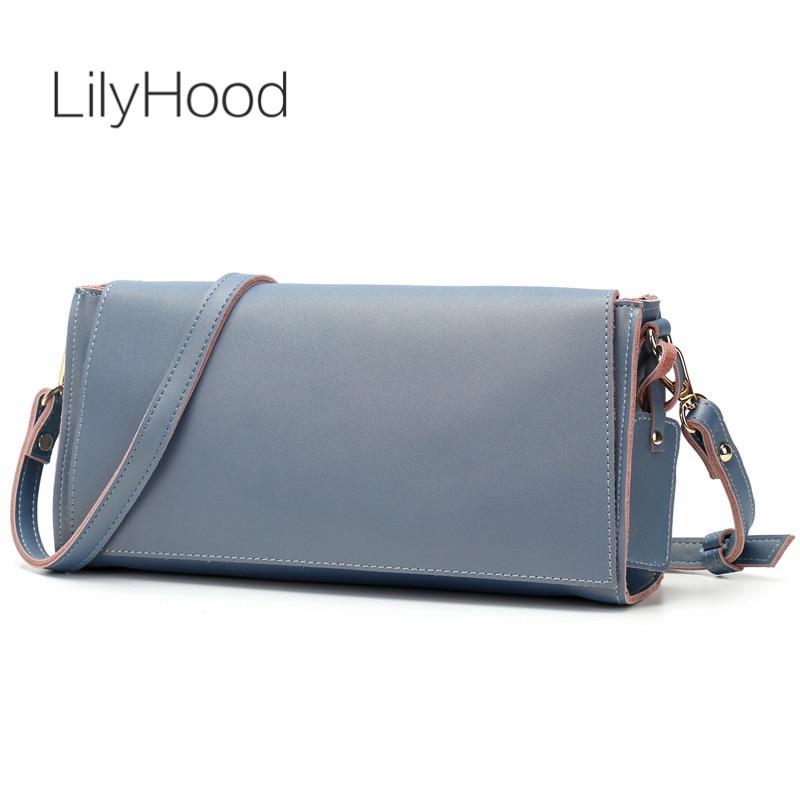 LilyHood 2017 Genuine Leather Shoulder Bag Women Summer Fashion Casual Brown Small Inspired Feminine Street Style Crossbody Bag