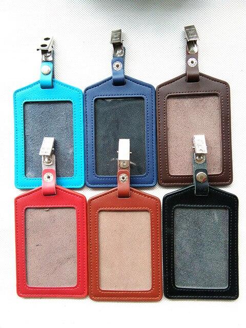 Gyreken Badge Card Case Business Holder Company Office Supply Genuine Leather Credit Men
