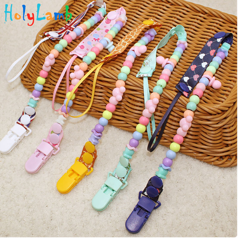 1Pcs Baby Pacifier Clips Kids Newborn Dummy Holder Baby Christmas Gift Baby Pacifier For Baby Kids Pacifier Chain For Teethers