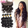Ear To Ear Lace Frontal Closure With Bundles Peruvian Virgin Hair Body Wave 4 Bundles With Lace Frontal Human Hair With Closure