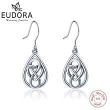 Женские Висячие сережки eudora из стерлингового серебра с сердечком