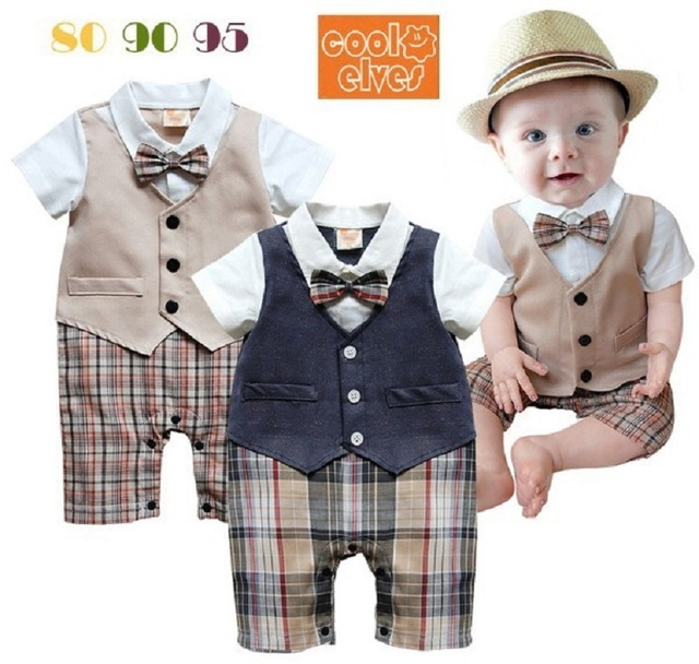 Baby Boy Five pieces clothing set Children tuxedo kids formal wedding suit Baby Boys Blazers suits black white 1-3 Year