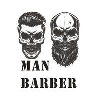 Man Barber Shop Wall Sticker Skull DesignMan Barber Quote Art Wall Decal Hair Salon Hair Sticker Hair Barber Shop Decoration