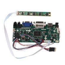 """Плата контроллера LCD HDMI DVI VGA Аудио пк модуль драйвера DIY Kit 15,6 """"дисплей B156XW02 1366X768 1ch 3.5 бит 40 контактная панель"""