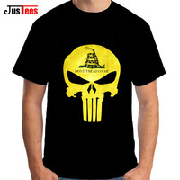 2017 Summer New Casual Punisher Skull T Shirts Men Novelty Streetwear Hip Hop Comic Super Hero