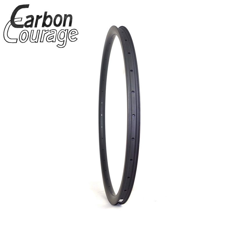 Wholesale 28mm Width Carbon Rim 29 Mtb Offset Cross Country MTB Carbon Rims Asymmetric 29er Carbon Rim Mountain Bicycle Wheels factory direct mountain bike clincher wheelset 29 inch 27 5er carbon mtb wheels 29er 650b carbon mtb wheels tubeless rims