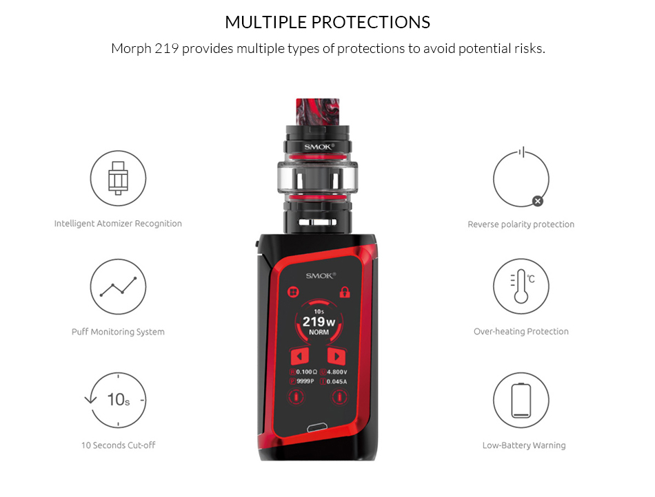 , Original SMOK MORPH 219 Kit 219W with TF2019 Tank For Electronic Cigarette morph mod kit VS X PRIV/Mag/Species/G Priv vape kit