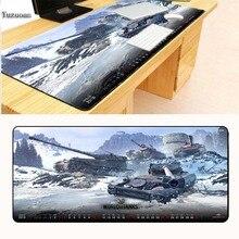 Yuzuoan XL 900X400X3 мм World of tanks коврик для мыши большой замок край pad резиновая игровая мышь настольные коврики для CSGO DOTA LOL Gamer