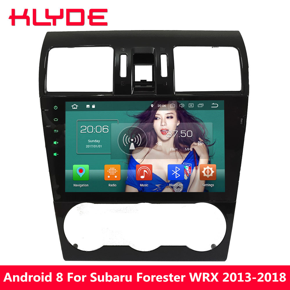 KLYDE 9 ''IPS Octa Core 4 gb RAM Android 8.0 32 gb ROM PX5 4g Voiture DVD Multimédia lecteur Radio Pour Subaru Forester XV WRX 2013-2018
