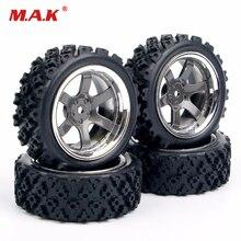 4X RC neumáticos de rally neumático con borde de rueda PP0038 + PP0487 para HSP RC 1:10 off coche de competición en carretera piezas de control remoto Accesorios