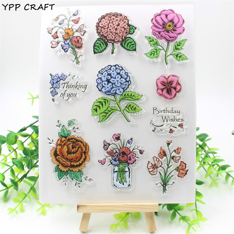YPP CRAFT Thinking Of You Transparent Clear Silicone Stamp/Seal for DIY scrapbooking/photo album Decorative clear stamp about lovely baby design transparent clear silicone stamp seal for diy scrapbooking photo album clear stamp paper craft cl 052