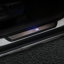 цена на For Toyota chr c-hr 2017 2018 LED Door Sill Scuff Plate Guards Door Sills Strip Protector Stickers Car Accessories 4pcs