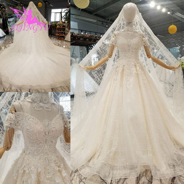 Us 350 0 Aijingyu Wedding Dress Elegant Real Photo Online Designer 2018 Royal Surmount Gown Usa Wedding Gowns For Sale In Wedding Dresses From